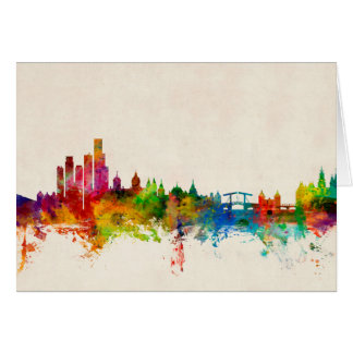Amsterdam The Netherlands Skyline Card