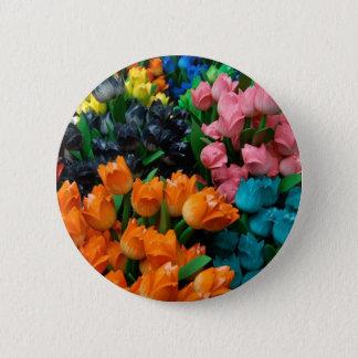 Amsterdam Tulips 6 Cm Round Badge