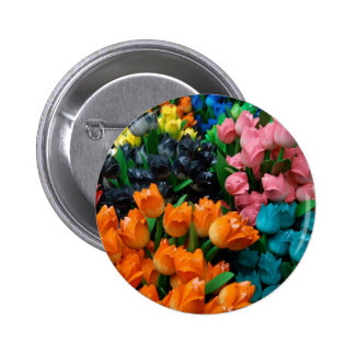 Amsterdam Tulips Pinback Buttons