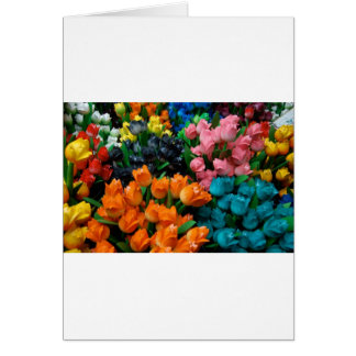 Amsterdam Tulips Greeting Card