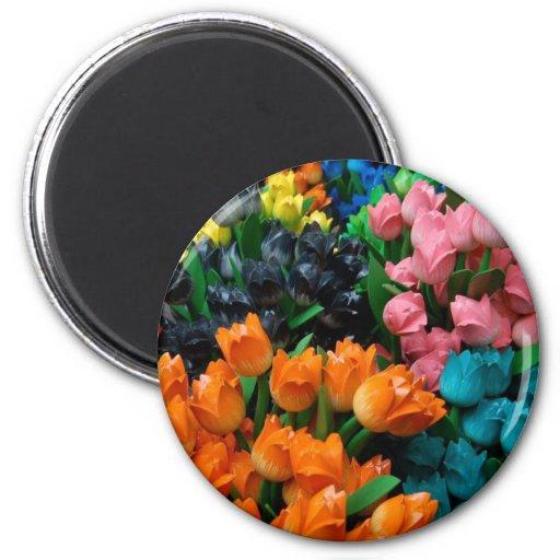 Amsterdam Tulips Fridge Magnet