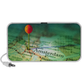 AMSTERDAM Vintage Map Doodle Laptop Speaker