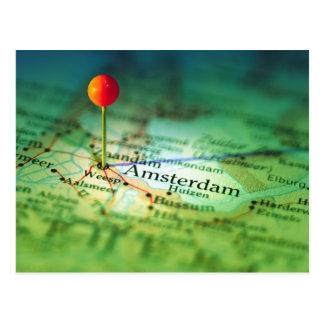 AMSTERDAM Vintage Map Postcard