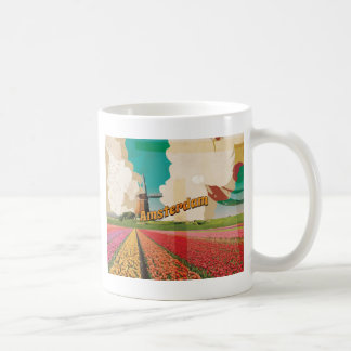 Amsterdam Vintage Travel Poster Coffee Mug