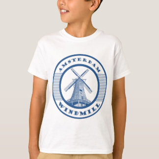AMSTERDAM WINDMILL BLUE T-Shirt