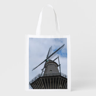 Amsterdam Windmill with Blue Sky Reusable Grocery Bag