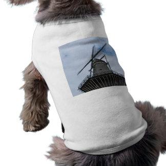 Amsterdam Windmill with Blue Sky Sleeveless Dog Shirt