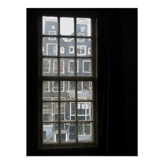 Amsterdam Window View Photo Poster Print