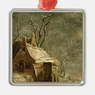 Amsterdam, winter scene, 17th century christmas ornament