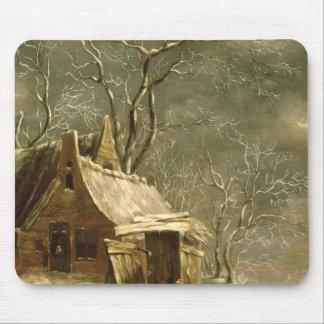 Amsterdam, winter scene, 17th century mouse mat