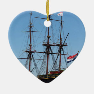 Amsterdam wooden sail ship VOC - Range Christmas Ornament