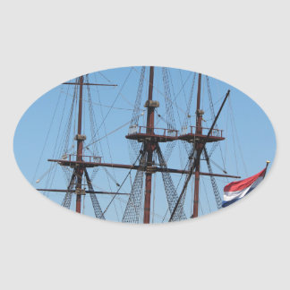 Amsterdam wooden sail ship VOC - Range Oval Sticker