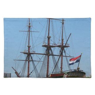 Amsterdam wooden sail ship VOC - Range Placemat
