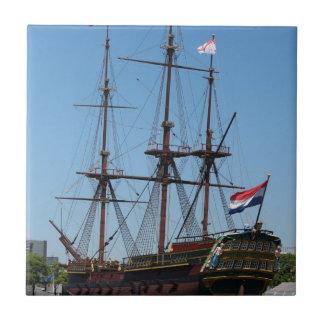 Amsterdam wooden sail ship VOC - Range Small Square Tile