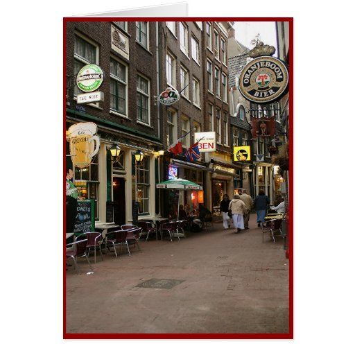 Amsterdam's Beer Alley Greeting Cards