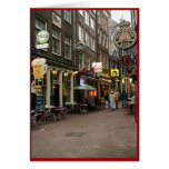 Amsterdam's Beer Alley Greeting Card