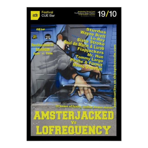 Amsterjacked v Lofrequency Poster