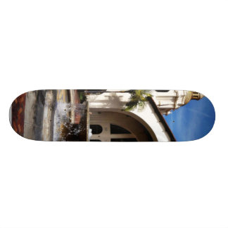 Amtrak Station And Fountain In Downtown San Diego Custom Skate Board
