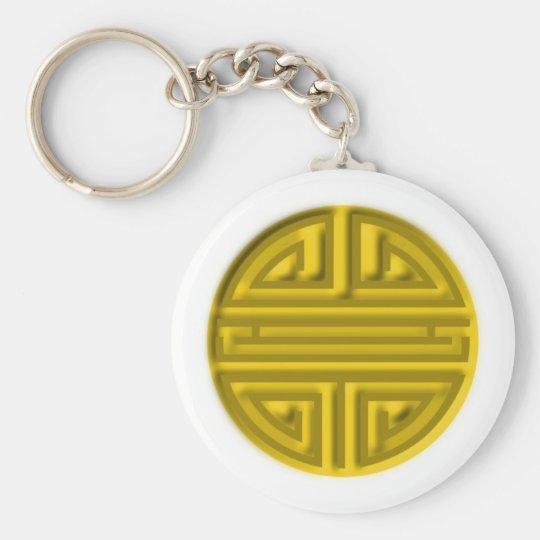 Amulet Buddhist long life amulet charm Basic Round Button Key Ring
