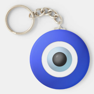 Amulet to Ward off the Evil Eye Basic Round Button Key Ring