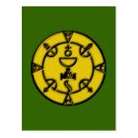 Amulett Siegel der Königin amulet charm Postkarten