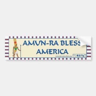 Amun-Ra Bless America bumper sticker