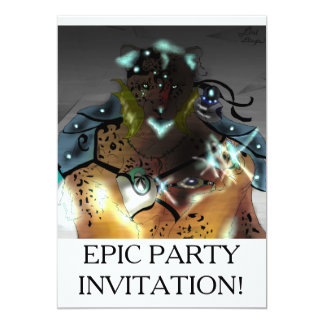 Amur Ice Mage Epic Party Invatations Card