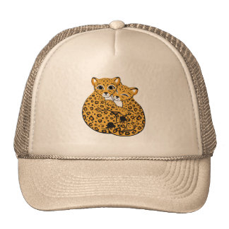 Amur Leopard Cubs Cuddling Art Cap