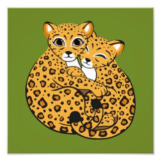 Amur Leopard Cubs Cuddling Art Photo