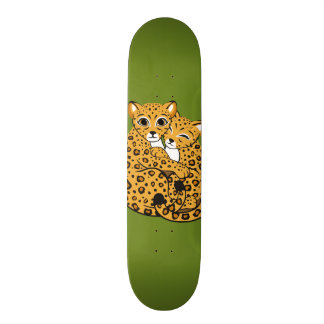 Amur Leopard Cubs Cuddling Art Skate Deck