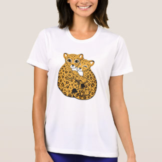 Amur Leopard Cubs Cuddling Art Tshirt