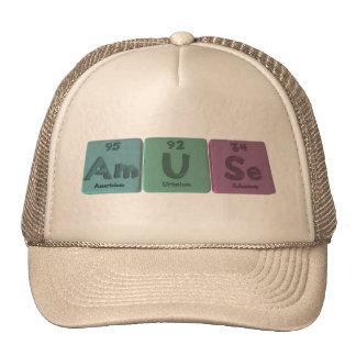 Amuse-Am-U-Se-Americium-Uranium-Selenium Mesh Hats