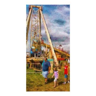Amusement - A long day of fun Customized Photo Card