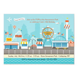 Amusement Park Invitation