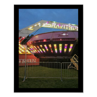 Amusement Ride at Carnival Poster