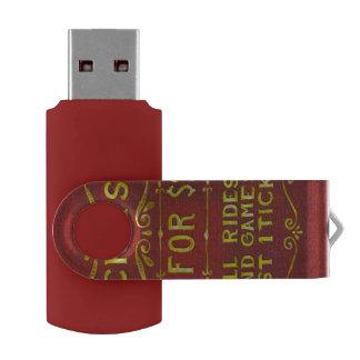 Amusement - Tickets 3 Dollars Swivel USB 2.0 Flash Drive