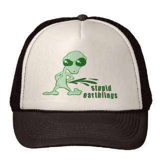 Amusing  Alien Antics Novelty Designs Mesh Hats