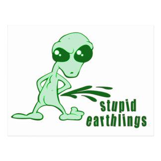 Amusing Alien Antics Novelty Designs Postcards