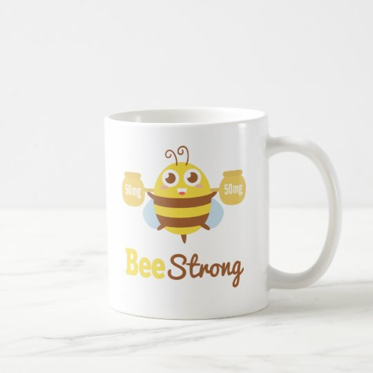 Amusing and Cute Bee Strong Cartoon Coffee Mug
