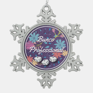 Amusing and Funny Floral Bunco Professional Pewter Snowflake Decoration