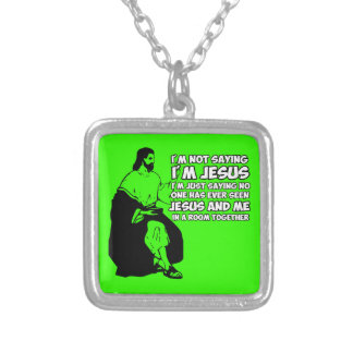 Amusing atheist silver plated necklace