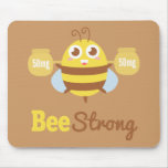 Amusing Cartoon: Cute bee holding pots Mousepad