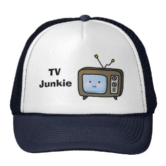Amusing Cute Retro TV Junkie Doodle Trucker Hat