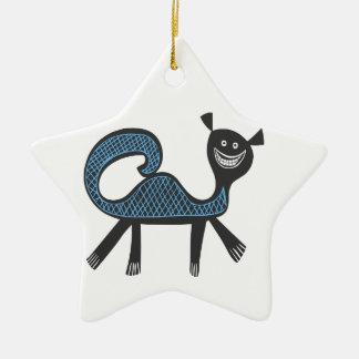 Amusing fantasy beast illustration christmas ornament