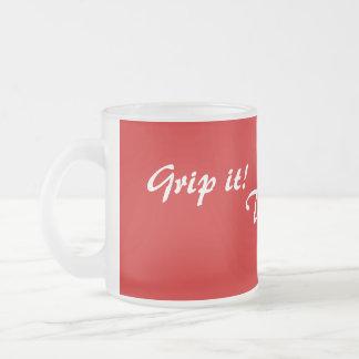 amusing original drinks slogan tea or coffee frosted glass mug