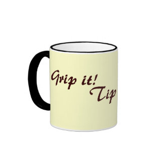 amusing original drinks slogan tea or coffee ringer mug