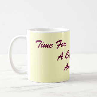 amusing original slogan for tea and coffee basic white mug