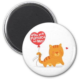 Amusing Pun Love Humor Cute Kitty Cat Cartoon 6 Cm Round Magnet