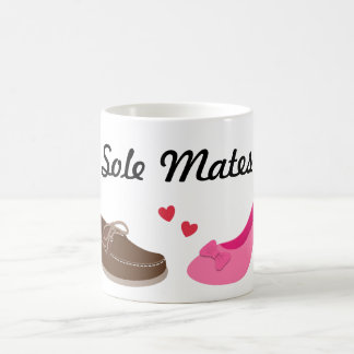 Amusing Soul mates Sole Mates Pun Humor Classic White Coffee Mug