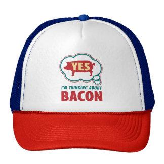 Amusing Thought Bubble Bacon Slogan Cap